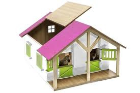 1:24 Toy Horse Stable Roof Open Shot