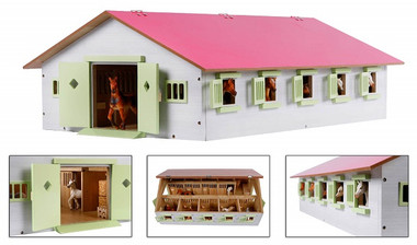 1:32 scale Pink Toy Horse Stable