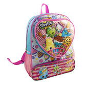 "Shopkins 16"" Backpack with Heart Sharped pocket"