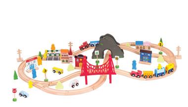 Bubbadoo Toy Wooden Train Set Image