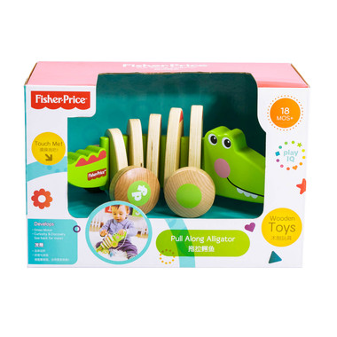 Fisher Price Wooden Pull Along Animal Packaging