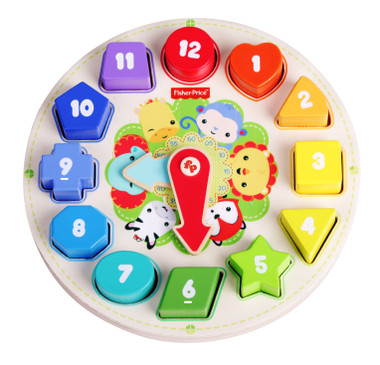 Fisher Price Wooden Toy Clock Image 1