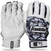 MLB A M White/Black Digitek Batting Gloves Pair