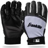 MLB T L Black/White T Ball Flex Batting Gloves Pair