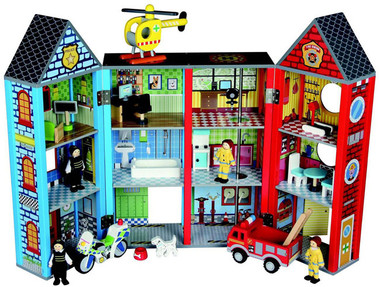 Wooden Emergency Rescue Playset