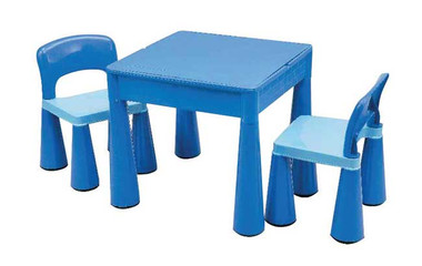 Monarch Children's Block Table & 2 Chairs Blue