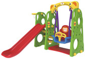 Monarch 3 in 1 Jumbo Plastic Slide with Swing - Display