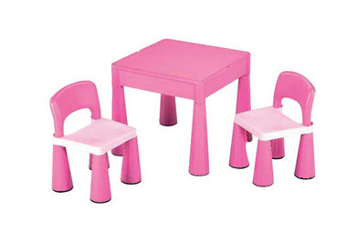 Monarch Children's Block Table & 2 Chairs Pink