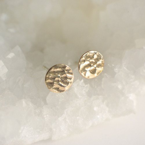Medium Hammered Circles - Gold