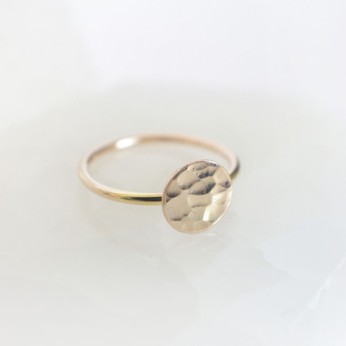 Hammered Circle - Gold