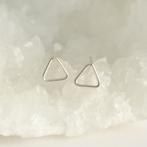 Triangle Outline - Silver