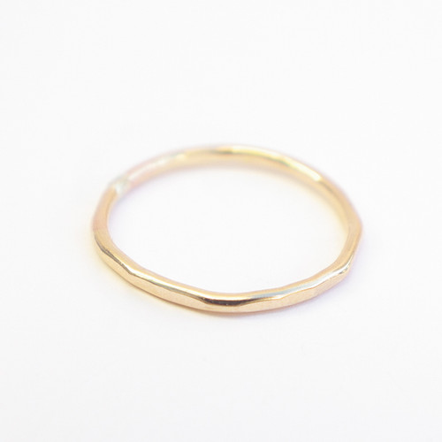 Plain Band - Gold Hammered