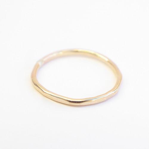 Plain Hammered Band - Gold