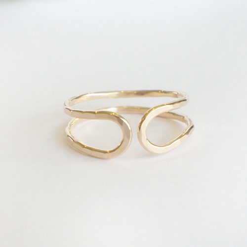 Double Band Hugger - Gold