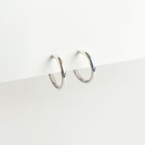 Mini Hoops 12mm - Silver