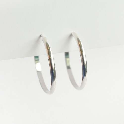 Thick Hoops 28mm - Silver