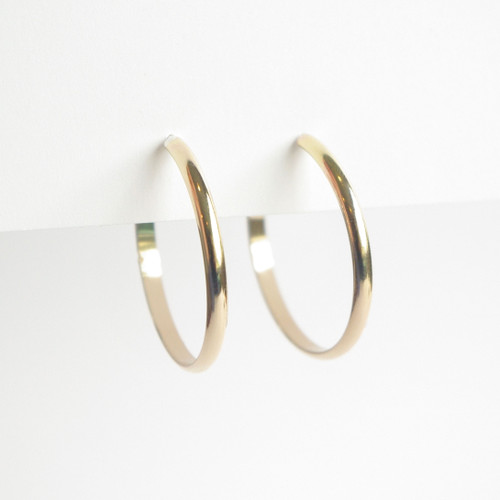 Thick Hoops 28mm - Gold