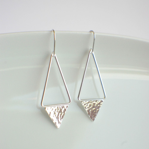 Triangle Dangle - Silver