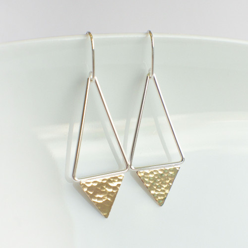 Triangle Dangle - Silver & Gold
