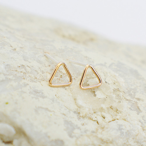 Triangle Outline - Gold