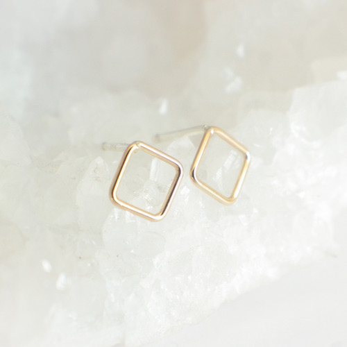 Square Outline - Gold