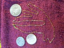 "New Solid 14kt Italian Yellow Gold Box Chain 20"" 0.6 MM 1.78 grams"