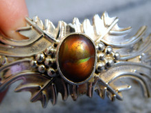 New Sterling Silver Fire  Agate Bracelet  by Navajo Artist Emer Thompson