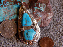 Turquoise Sterling Silver Snake Pendent By Zuni Jude Candelaria (Effie)