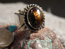 Fire Agate Sterling Silver Ladies Ring By Navajo Geraldine James Size 6