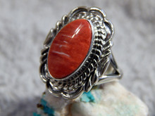 New Light Weight Ladies Sterling Silver Spiny Ring Navajo Virgil Chee Size 6 3/4