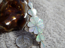 Ladies Sterling Silver Created Opal Inlay Ring By Zuni Dianna Shebola Size 7 3/4