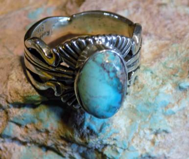 Bisbee Blue Turquoise Arizona SDavidJewelry.com  Navajo Russell Sam