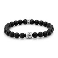 8mm Agate Buddha Bead Bracelet