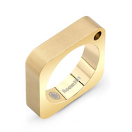 Gold Plated Plain Square Ring