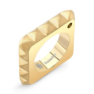 Gold Vermeil Square Punk Rock Ring