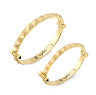 Gold Plated Punk Rock Bangle