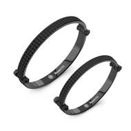 Black PVD Spike Bangle