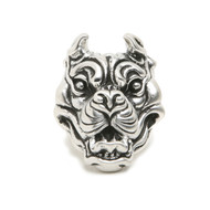 "Sterling Silver ""Bully"" Bulldog Ring"