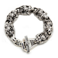 Sterling Silver Men's Snarls Link Bracelet
