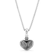 Striped heart pendant