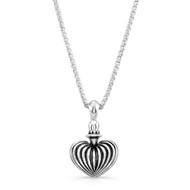 Striped heart pendant