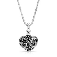 Sterling Silver Filigree Heart Pendants