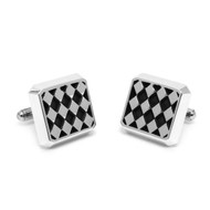 Sterling Silver Diamond Cufflinks