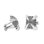 Sterling Silver Pinnacle Cufflinks