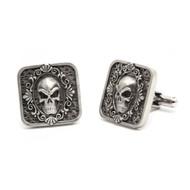 Stainless Steel Skull Frame Cuff Links