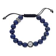 Lapis Shamballa Bracelet With Sakura Bead