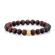 8mm Red Tiger Eye Bead Bracelet