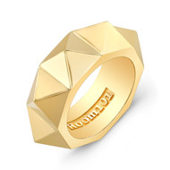 18K Gold Pyramid Ring