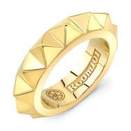 18K Gold Small Pyramid Ring