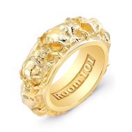 18K Gold Skull Ring